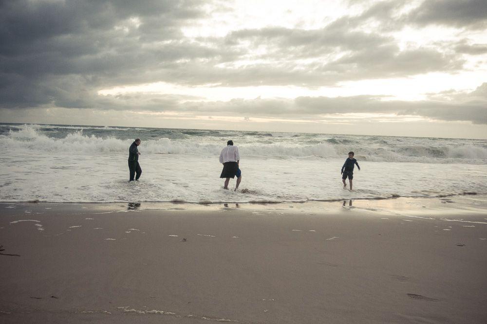 Lacanau, abends am Strand,