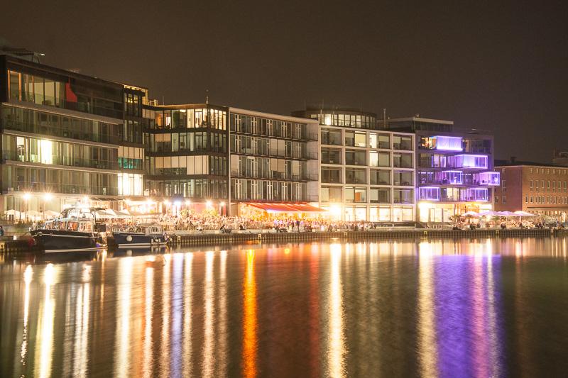 Hafen am Abend in Münster
