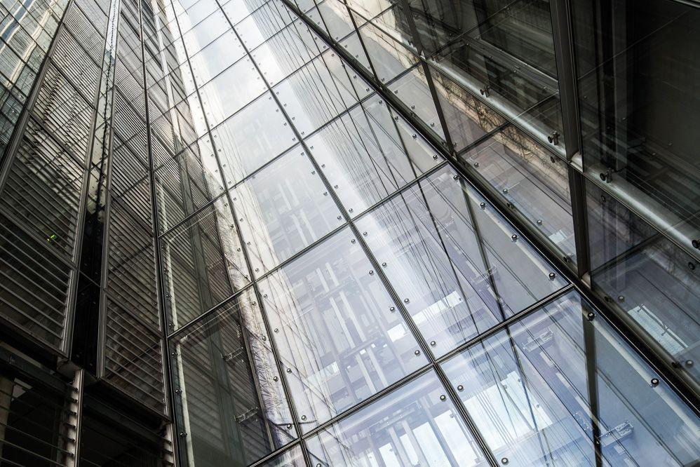 LVM Münster, Fassade aus Glas