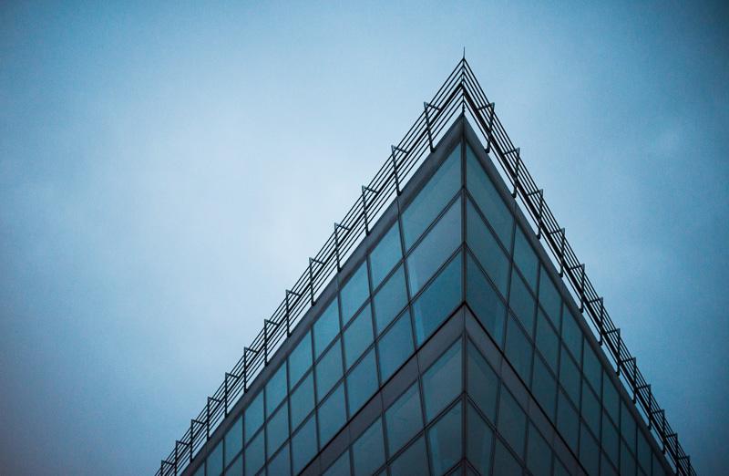 Moderne Glasfassade, Architektur