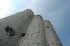 Klettern am Silo auf Fehmarn, Siloclimbing