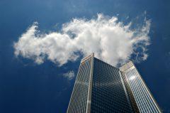Frankfurt, blue Sky, Dekabank, Architekturfotografie, Trianon