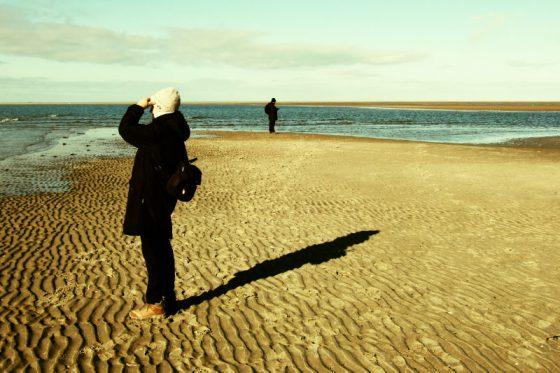 Ausguck, Am Strand von Borkum