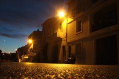 Südfrankreich, abends an der Mittelmeerküste, Bouzigues