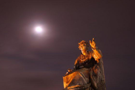 Bad Brückenau, König Ludwig I. und der Mond