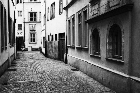 Bamberg, Gasse in der historischen Altstadt
