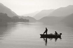 Angler am Lago d'Idro / Idrosee
