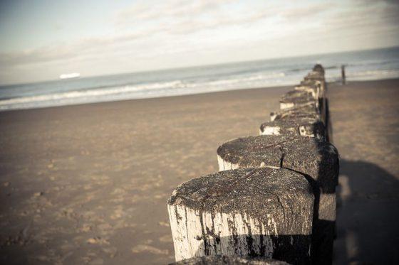 Cadzand, Holland. Im Winter am Strand