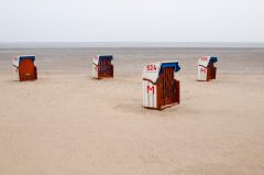 Strandkörbe in Cuxhaven, Nebensaison