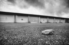 Einsamer Garagenhof