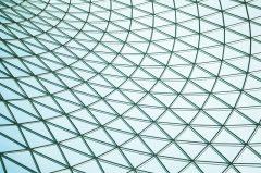 Glasdach, Dachkonstruktion aus Glas und Metall