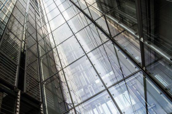 LVM Fassade aus Glas