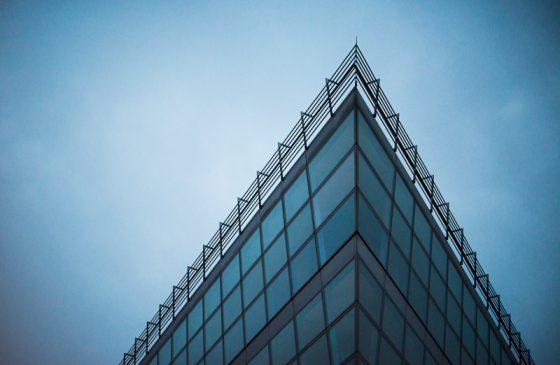 Moderne Glasfassade, Medienhafen Düsseldorf