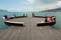 Montreux am Genfer See, Uferpromenade