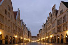 Morgens um sieben ist die Welt noch in Ordnung… Prinzipalmarkt, Schloss, Münster