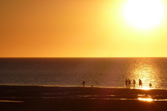 Sonnenuntergang am Strand, Cuxhaven