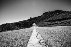 On the road…. einsame Landstrasse