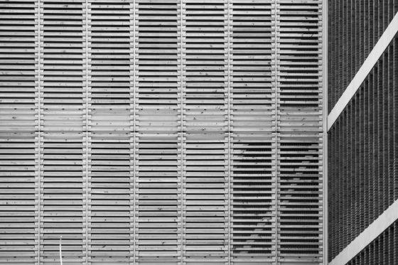 abstrakte Architekturfotografie, die neue Oberfinanzdirektion in Münster